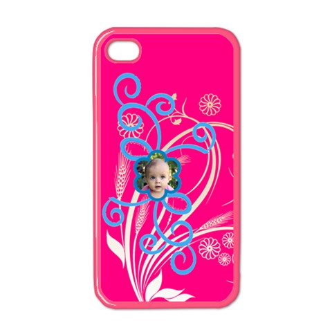 Squiggle Flower Iphone By Birkie   Apple Iphone 4 Case (color)   X3fab3ed6vq5   Www Artscow Com Front