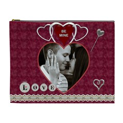 Be Mine, All Mine Xl Cosmetic Bag By Lil    Cosmetic Bag (xl)   Whj8xi3qro44   Www Artscow Com Front