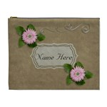 XL Cosmetic Bag: Brown and Pink - Cosmetic Bag (XL)