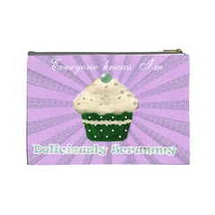 I Love My Little Cupcake Lilac  And Green Cosmetic Bag By Claire Mcallen   Cosmetic Bag (large)   Cphv20dk15mn   Www Artscow Com Back
