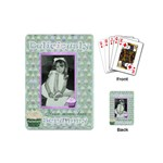 Deliciously scrummy green cupcake mini playing cards - Playing Cards (Mini)
