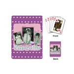 I love my little cupcake pink and purple mini playing cards - Playing Cards (Mini)