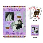 cupcake playing cards in purple and green - Playing Cards Single Design