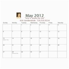 Karen Leach 3 By Kris Vandeneinde   Wall Calendar 11  X 8 5  (18 Months)   399ruha9rfx6   Www Artscow Com May 2012