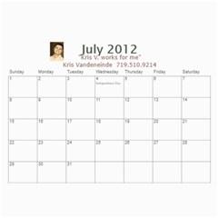 Karen Leach 3 By Kris Vandeneinde   Wall Calendar 11  X 8 5  (18 Months)   399ruha9rfx6   Www Artscow Com Jul 2012