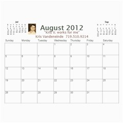 Karen Leach 3 By Kris Vandeneinde   Wall Calendar 11  X 8 5  (18 Months)   399ruha9rfx6   Www Artscow Com Aug 2012