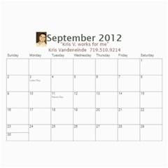 Karen Leach 3 By Kris Vandeneinde   Wall Calendar 11  X 8 5  (18 Months)   399ruha9rfx6   Www Artscow Com Sep 2012