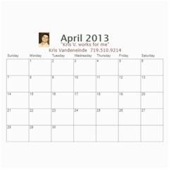 Karen Leach 3 By Kris Vandeneinde   Wall Calendar 11  X 8 5  (18 Months)   399ruha9rfx6   Www Artscow Com Apr 2013