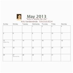 Karen Leach 3 By Kris Vandeneinde   Wall Calendar 11  X 8 5  (18 Months)   399ruha9rfx6   Www Artscow Com May 2013