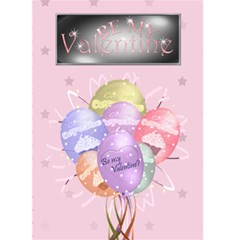 Be My Valentine Balloon Card Pink By Claire Mcallen   Greeting Card 5  X 7    Zuzw7l9hr4ia   Www Artscow Com Front Cover