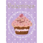 Be my Valentine Cupcake card - Greeting Card 5  x 7