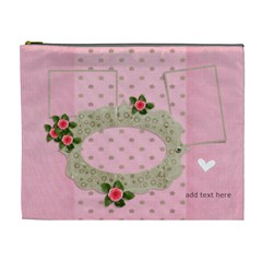 Xl Cosmetic Bag: Sweet Hearts By Jennyl   Cosmetic Bag (xl)   Rpdtge2yg8hn   Www Artscow Com Front