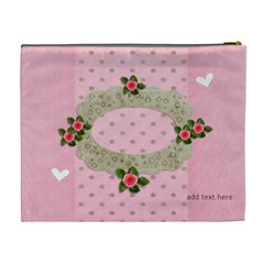 Xl Cosmetic Bag: Sweet Hearts By Jennyl   Cosmetic Bag (xl)   Rpdtge2yg8hn   Www Artscow Com Back