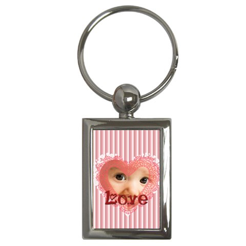Love By Joely   Key Chain (rectangle)   X757lbyt9dl6   Www Artscow Com Front