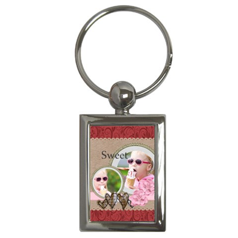 Love By Joely   Key Chain (rectangle)   D97uqaxzcynr   Www Artscow Com Front