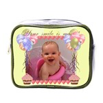 Your Smile is Magic! Mini cupcake and balloons toiletry bag - Mini Toiletries Bag (One Side)