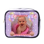 Your smile lights my way, cupcake and balloon mini toiletry or make up bag - Mini Toiletries Bag (One Side)