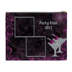 Party Time Xl Cosmetic Bag By Deborah   Cosmetic Bag (xl)   3no9b82ilhv6   Www Artscow Com Back