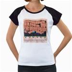 Jerusalem Skyline Women s Cap Sleeve T