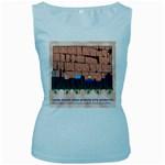 Jerusalem Skyline Women s Baby Blue Tank Top