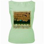 Jerusalem Skyline Women s Green Tank Top