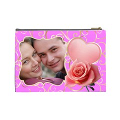 Pink Sweet Love Large Cosmetic Case By Deborah   Cosmetic Bag (large)   Fs9rdqzv7hpq   Www Artscow Com Back