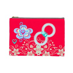 Flower Cosmetic Bag 2 By Birkie   Cosmetic Bag (large)   3s144dgdum4k   Www Artscow Com Front