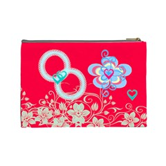Flower Cosmetic Bag 2 By Birkie   Cosmetic Bag (large)   3s144dgdum4k   Www Artscow Com Back