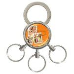 love - 3-Ring Key Chain