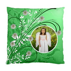 Green Floral Cushion Case Two Sides By Kim Blair   Standard Cushion Case (two Sides)   8il9dudoayt5   Www Artscow Com Front
