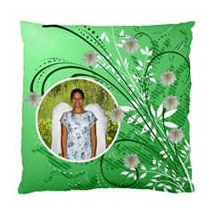 Green Floral Cushion Case Two Sides By Kim Blair   Standard Cushion Case (two Sides)   8il9dudoayt5   Www Artscow Com Back