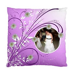 Purple Floral Cushion Case By Kim Blair   Standard Cushion Case (two Sides)   Nlitp28z4oot   Www Artscow Com Front
