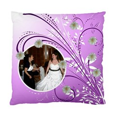 Purple Floral Cushion Case By Kim Blair   Standard Cushion Case (two Sides)   Nlitp28z4oot   Www Artscow Com Back