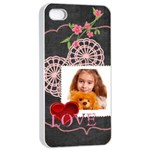 love - Apple iPhone 4/4s Seamless Case (White)
