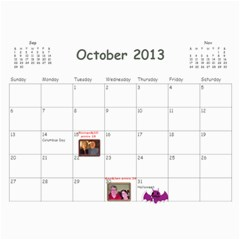 Calendar 18 Mo 2012 2013 By Lyn Clarke   Wall Calendar 11  X 8 5  (18 Months)   Iekc514q24xn   Www Artscow Com Oct 2013