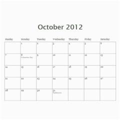 Nature Calendar By Hadassa Seliger   Wall Calendar 11  X 8 5  (12 Months)   Vr5r94ljk052   Www Artscow Com Oct 2012