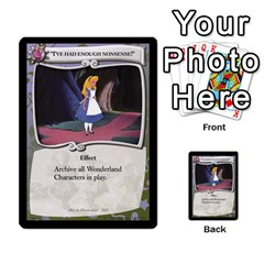 Alice In Wonderland 4 Of 6 By Orion s Bell   Multi Purpose Cards (rectangle)   Tntjeq39oxd2   Www Artscow Com Front 51