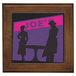 Film Noir Scene Framed Tile