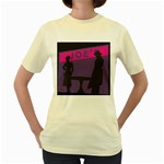 Film Noir Scene Women s Yellow T-Shirt