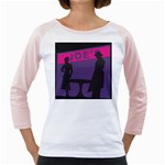 Film Noir Scene Girly Raglan