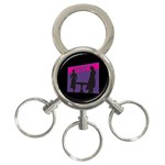 Film Noir Scene 3-Ring Key Chain