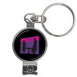 Film Noir Scene Nail Clippers Key Chain