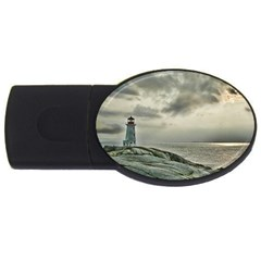 Peggy s Cove Lighthouse USB Flash Drive Oval (2 GB) from ArtsNow.com Front
