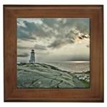 Peggy s Cove Lighthouse Framed Tile