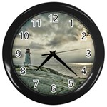 Peggy s Cove Lighthouse Wall Clock (Black)
