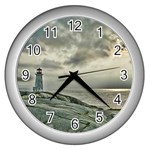 Peggy s Cove Lighthouse Wall Clock (Silver)