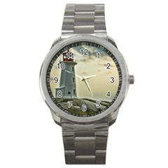 Lighthouse Sport Metal Watch from ArtsNow.com Front