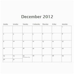 Calender By Kelli   Wall Calendar 11  X 8 5  (12 Months)   Qtqcq7czusv7   Www Artscow Com Dec 2012