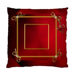 Red And Gold Framed (2 Sided) Cushion By Deborah   Standard Cushion Case (two Sides)   Zdes73ibwxhv   Www Artscow Com Back