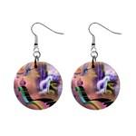 unicorn - 1  Button Earrings